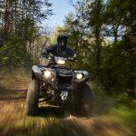 Le Yamaha Kodiak 450 A Fond Sur Les Chemins