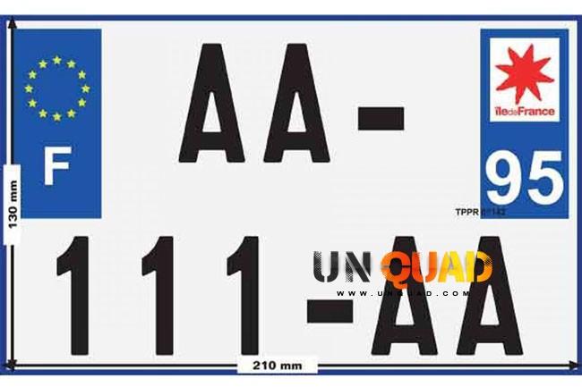 Plaque Immatriculation Pour Quad Homologe